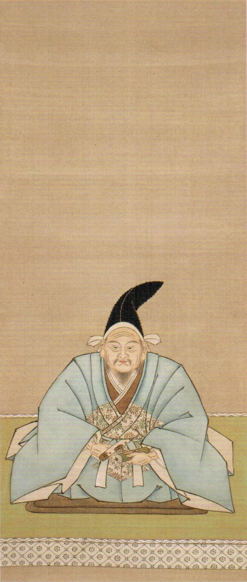 大江広元像(大庭学僊画)