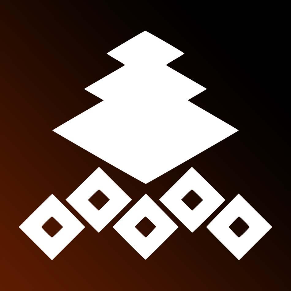 家紋:三階菱に五つ釘抜