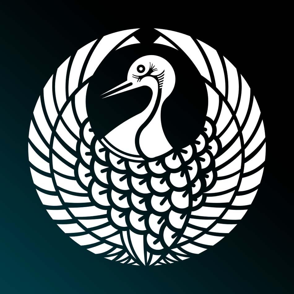 家紋:鶴の丸
